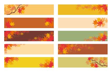 秋 フレーム 紅葉 背景