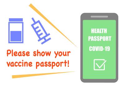 ワクチンパスポート COVID-19 ベクターイラスト