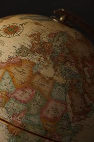 地球儀、ヨーロッパとアフリカ
