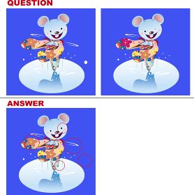 間違い探しクイズ_ネズミのフィギュアスケート