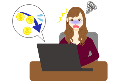 パソコン 女性 ドル マイナス