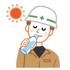 作業員 水分補給 ペットボトル