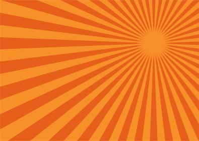 背景素材 集中線 放射線(オレンジ) A02
