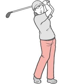 ゴルフ 女性 若い女性 ズボン パンツ