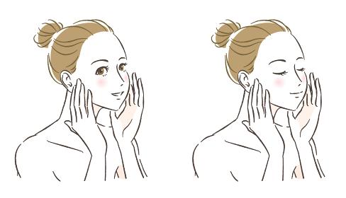 女性スキンケアイメージ セット