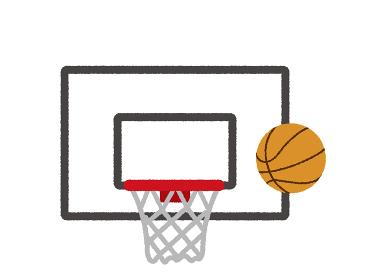 バスケットゴール イラスト(手書き風ラフタッチ)