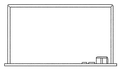 シンプルなタッチ 学校の長方形の黒板のイラストレーション