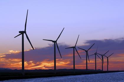 風力発電風車 福岡県北九州市