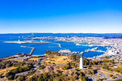 冬の小名浜港(福島県いわき市)