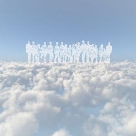 雲海と人物の雲