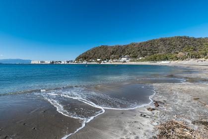 早春の葉山町の風景 一色海岸 2月