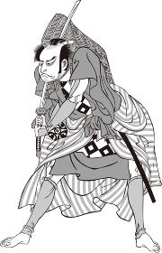 浮世絵 歌舞伎役者 その61 白黒
