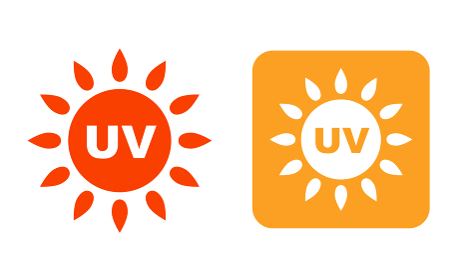 UV 太陽のマーク アイコン