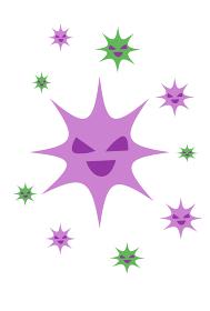 ウイルスや細菌のイラストス