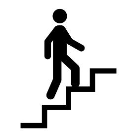 アイコン 階段 人