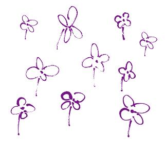 手書きの花の手書きイラスト