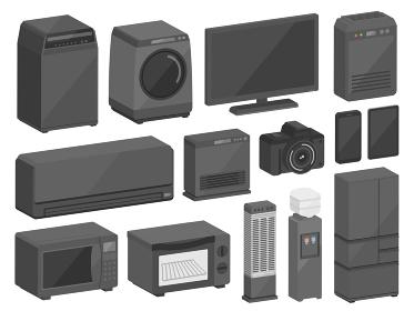 電化製品の3Dイラストセット