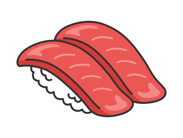 マグロの寿司のイラスト
