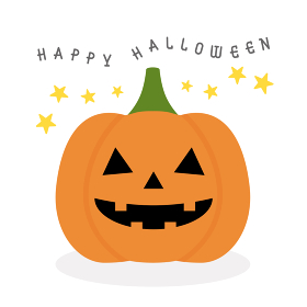 かわいいハロウィンのかぼちゃのランタン、ジャックオーランタンの素材:happy halloween
