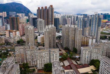 Wong Tai Sin, Hong Kong, 24 September 2018:- Hong Kong residential district