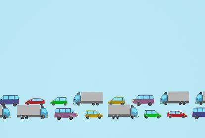 シンプルな渋滞のイメージ素材、3Dレンダリング