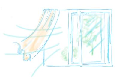 換気、窓、空気、入れ替え、風、対策、新鮮、健康、爽やか、風通し、予防、感染予防、感染対策、