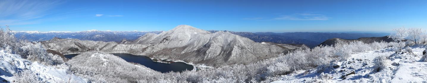 地蔵岳(赤城山)山頂からの眺望 (パノラマ)
