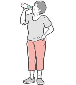 水分補給 中年女性