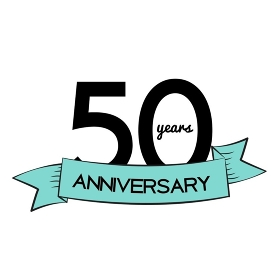 Template Logo 50 Years Anniversary Vector Illustration EPS10. Template Logo 50 Years Anniversary Vector Illustration