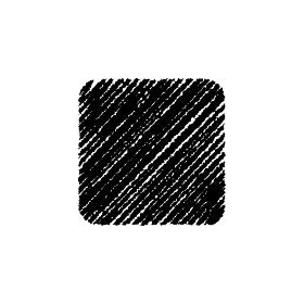 チョークで描いたような図形/アイコン(角丸四角形)