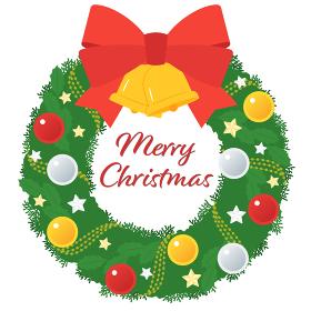 クリスマスリース/ボール飾りと星