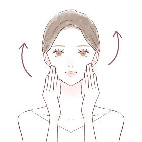 肌にハリがある女性 スキンケアのイメージ