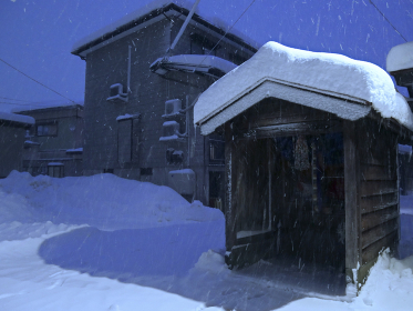 豪雪下の街
