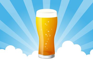 空に生ビール 飾り
