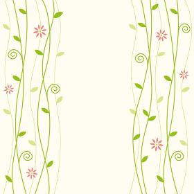 花とつる草の模様
