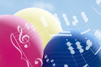 楽譜と風船