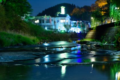 大分長湯温泉郷の夜景