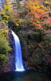 群馬県 大仙の滝 秋の風景