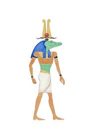 エジプト 神 セベク ソベク 水彩 イラスト