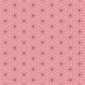 麻の葉模様 黒×ピンク