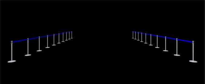ベルトパーテーションの3Dレンダリング