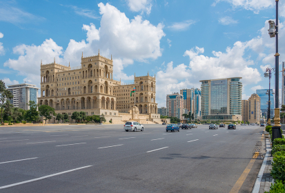 Baku - July 18, 2015: Government House in Azerbaijan, Baku. Government House is a gothic-style building in Baku. Baku - July 18, 2015: Government House in Azerbaijan, Baku. Gove