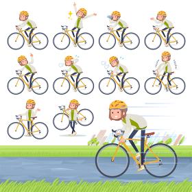 flat type knit cap blouson women_road bike