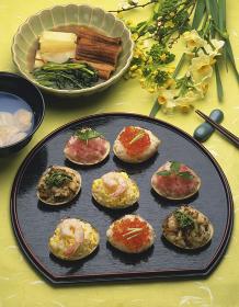 ひな祭りの料理 ハマグリ寿司
