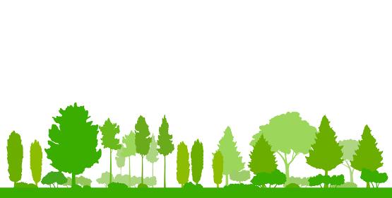 緑の木の風景イラスト