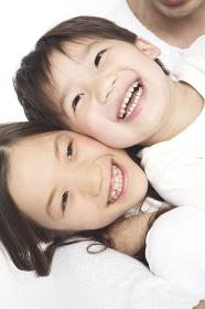 笑顔の姉弟