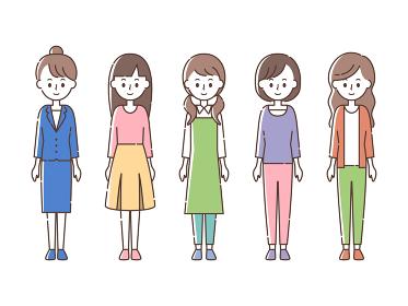 微笑む5人の女性