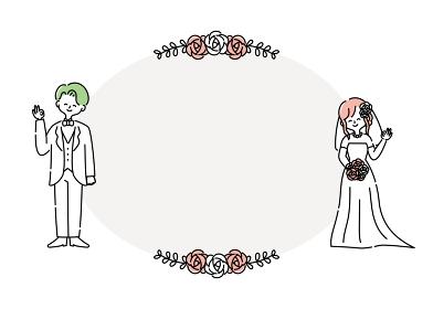 ブライダル 結婚式 ウェディング 新郎新婦 人物イラスト