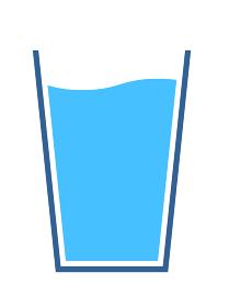 グラスと水のアイコン