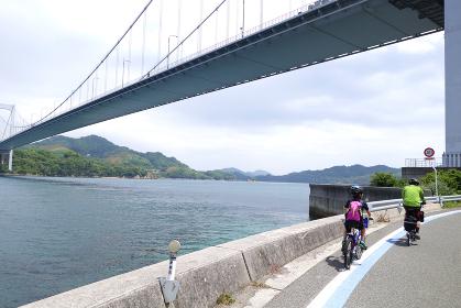親子で、しまなみ海道サイクリング